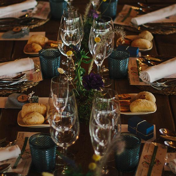 Decoración de mesas bodas y eventos Oasis Floristas