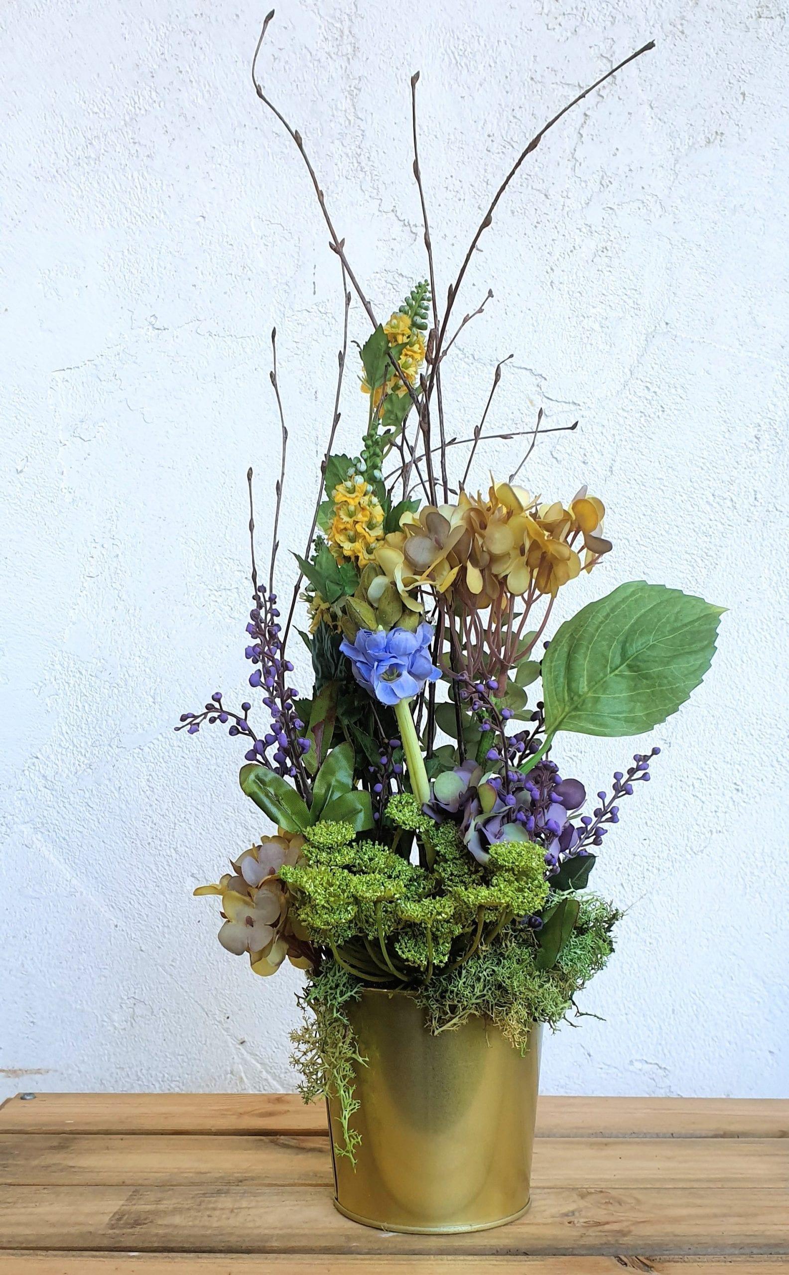 centro de flores artificiales originales