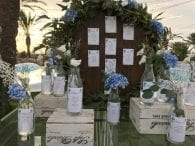 Seating decoración boda en la playa Cabo de Palos