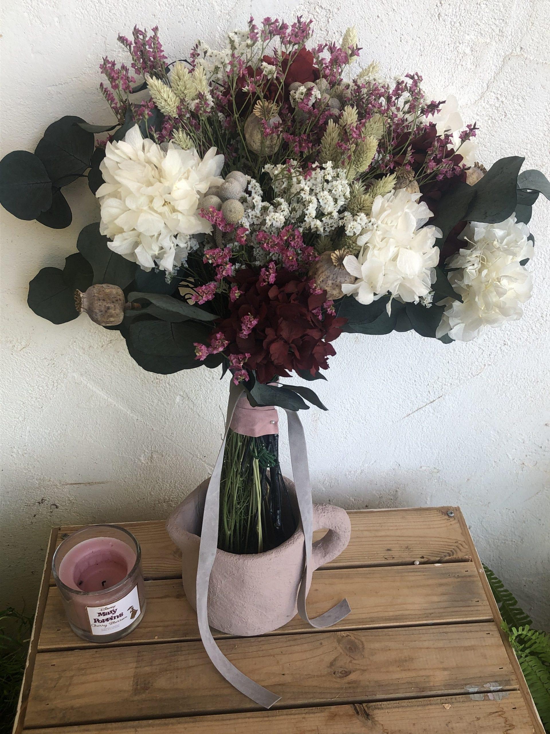 Ramo de flores preservado floristería Cartagena flores a domicilio