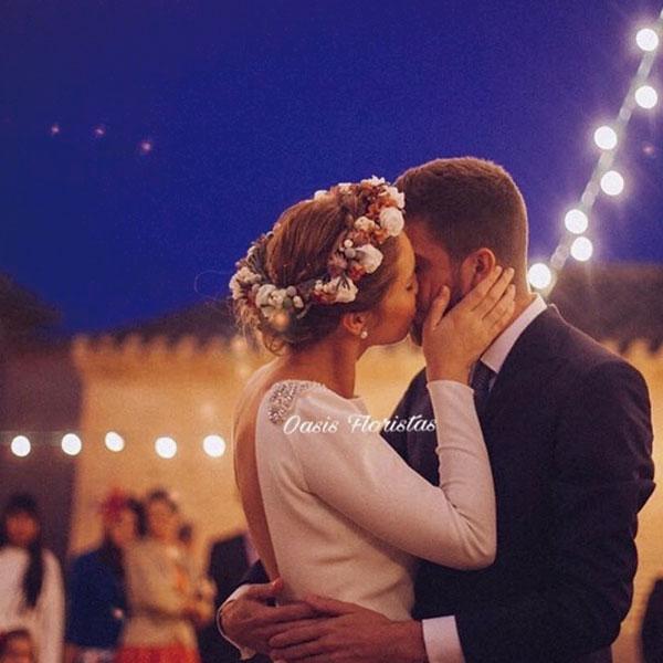 Coronas de flores naturales para novias en Cartagena Murcia