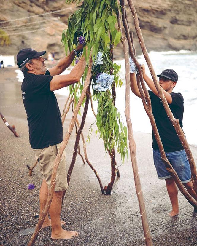 Decoración floral para eventos en la playa floristas profesionales Cartagena